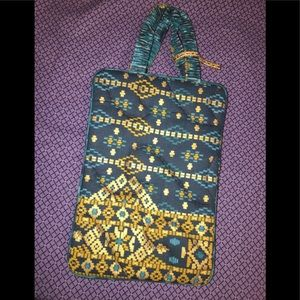 Quilted Cloth Gilded Pattern Print Satchel